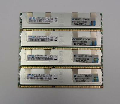 64GB (4x 16GB) HP Samsung 16GB PC3-8500R 4Rx4 ECC Reg Server Memory 500207-071