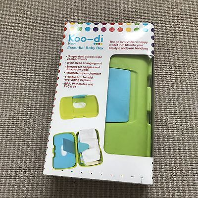 Koodi Essential Baby Box holds Wipes & Nappy & Bag & Changing Mat RRP £14.99