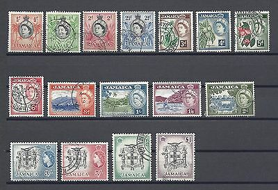 JAMAICA 1956-58 159/74 USED Cat £55
