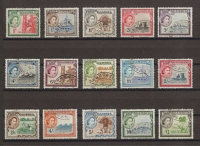 GAMBIA 1953-9 171/85 Fine Used Cat £50