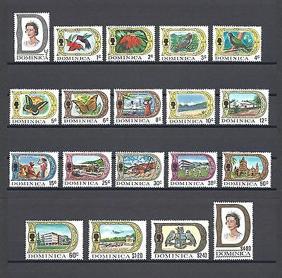 DOMINICA 1969 SG272/90 MNH Cat £29