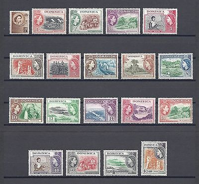 DOMINICA 1954 SG140/58 MNH Cat £85