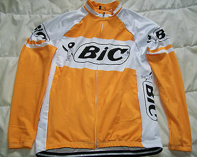 maillot veste velo thermique cyclisme BIC vintage cycling jersey taille L