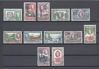 BRITISH HONDURAS 1938-47 SG 150/61 USED Cat £100