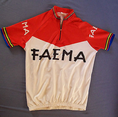 maillot cyclisme velo FAEMA replica vintage jersey cycling taille M