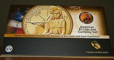 2014 D Sacagawea Dollar Enhanced Finish, American Coin and Currency Set