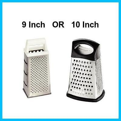 9 or 10 Inch, 4 Way Box  Cheese Grater High Quality Stainless Steel