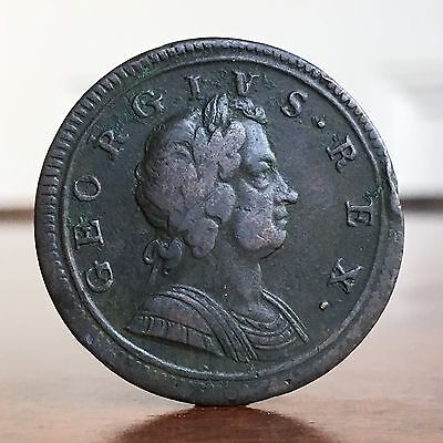George I, Halfpenny, 1724. R/R In GEORGIVS.