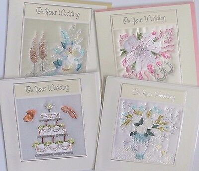 20 Unusual  Embroidered Wedding cards only 50p each
