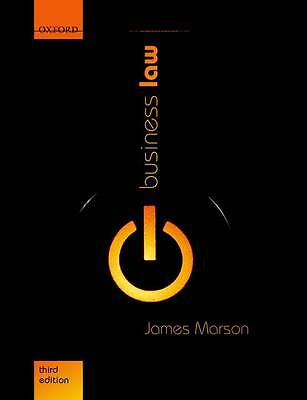 Business Law, Marson, James Book The Cheap Fast Free Post