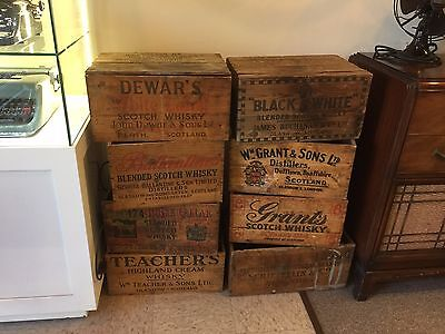 Vintage early 1950s King William IV Scotch Whisky Wooden Box Crate