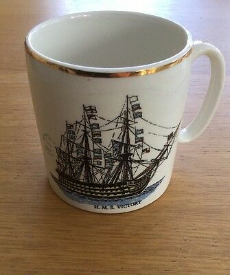 Vintage/Collectable HMS Victory Miniature Mug By Lord Nelson Pottery