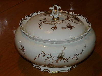 Vintage Porcelain 48oz  '' R '' Germany Soup Tureen - No Chips