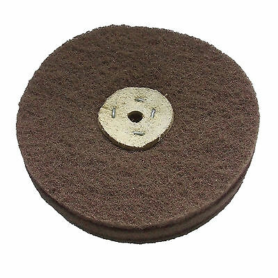 "6"" x  1"" FINE-MEDIUM  GRADE SCOTCH BRITE LAP MOP BUFFING WHEEL ABRASIVE CARBIDE"