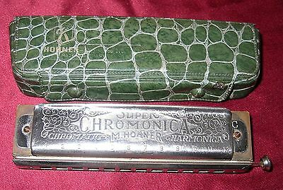 "ARMONICA HOHNER ""SUPER CHROMONICA"" Vintage-made in Germany"