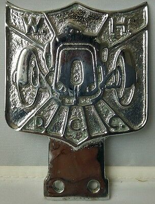 VINTAGE WHDCC CLUB CAR/VEHICLE BADGE CHROME BADGE @c1940s/1950s ? THIS ITEM IS I