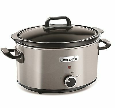 Crock-Pot 210W 3.5L Slow Cooker In Brushed Stainless Steel - Csc025