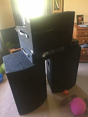DJ / PA Set Up With Amp And Speakers