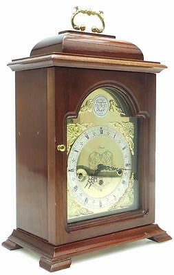 Vintage Mahogany Caddy Top Clock Westminster Chime Musical 8 Day Bracket Clock