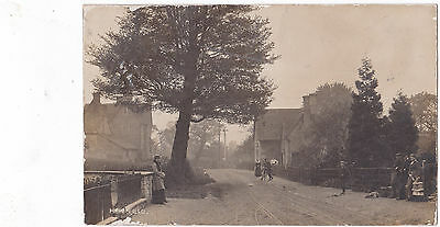 RP Haresfield, Glos.-Two postmen-people,young boy and dog/Railway signal.W.F.Lee