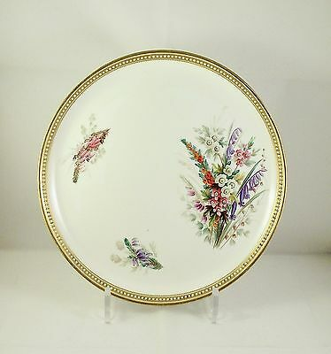 Antique 19thC Royal Worcester Floral Painted Plate circa 1875