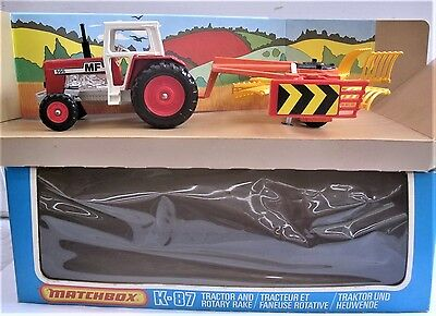 Matchbox Superkings No 87 Tractor with Hoe Rare Mint Boxed