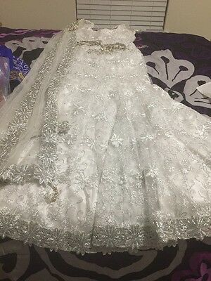 Indian White Designer Chaina Choli Preowned.