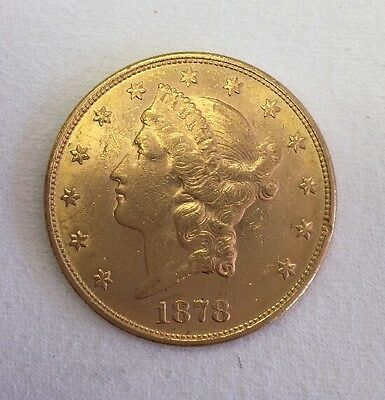 1878 Gold United States $ 20 Liberty Head Double Eagle  Coin