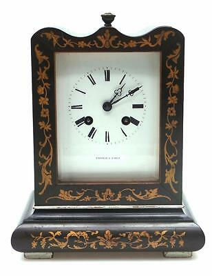 Rare French Officers Mantel Clock Satinwood inlay Case Carriage Clock C1850