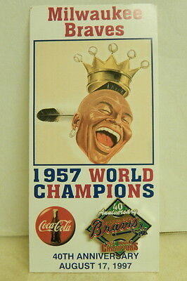 Coca-Cola Milwaukee Braves 40th anniversary world series pin, 1997