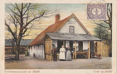 Holland  1917  Vintage Postcard Sent To Portugal Camp De Zeist