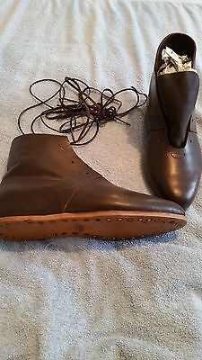 medieval reenactment Leather Ankle Boots size 8