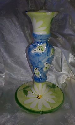 FAVANOL  Portugal Hand Painted Eight Inch Taper Candle Holder