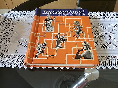 large stamp album with huge amount of world mixed stamp,s around 3.000 stamps