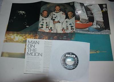 Man On The Moon, The Story Of The Apollo 11 Landing, 1969 Philips 88457 De, Ex