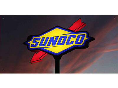 Advertising Display Banner for Sunoco Sales Service Oils