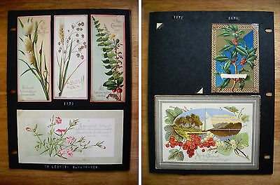 6 Antique Victorian Christmas Cards by Prang Holly Sailboat Plant Sprigs (p.452)
