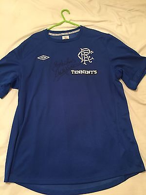Signed rangers Football Shirt