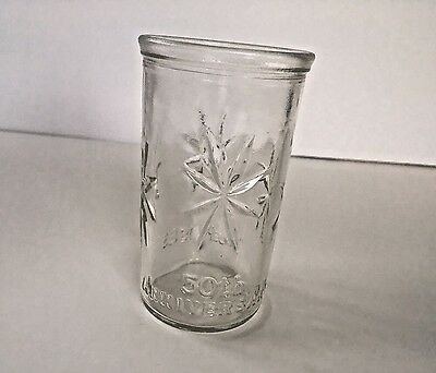 Vintage Ball 1983 Kraft Jelly Jar 50th Anniversary Starburst Juice Glass Cup