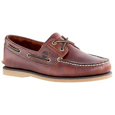 TIMBERLAND CLASSIC 2 Eye Brown Leather BoatDeck Shoes 74035