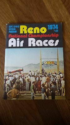 1974 Reno National Championships Air Races Official Program Nevada Stead