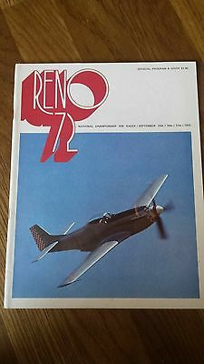 1972 Reno National Championships Air Races Official Program Nevada Stead
