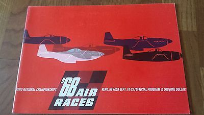 1968 Reno National Championships Air Races Official Program Nevada Show
