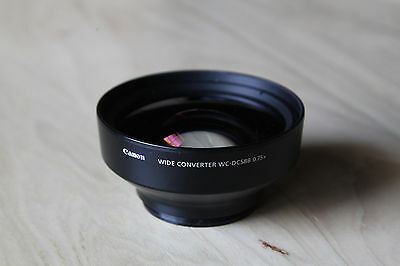 Canon Wide Converter Lens WC-DC58B 0.75x Bundle + LA-DC58L adapter and lens caps