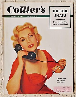 "Vintage Collier's Magazine - September 6, 1952 Issue - ""zsa Zsa Gabor"" Cover"