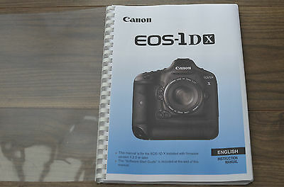 ~PRINTED~ Canon EOS 1DX  User guide Instruction manual