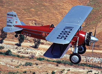 "Model Airplane Plans (RC): Stearman C-3B 1/12 Scale Biplane 35"" .020 (Flyline)"