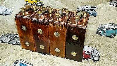 VERY RARE Beautiful Set of Four Refurbished Copper Top Ford Model T Buzz Coils
