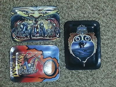 Lot of 3 EASY RIDERS Motorcycle Art Plates David Mann Choppers Harley Davidson