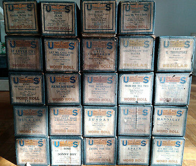 Lot of 24 - Vintage US Player Piano Rolls
